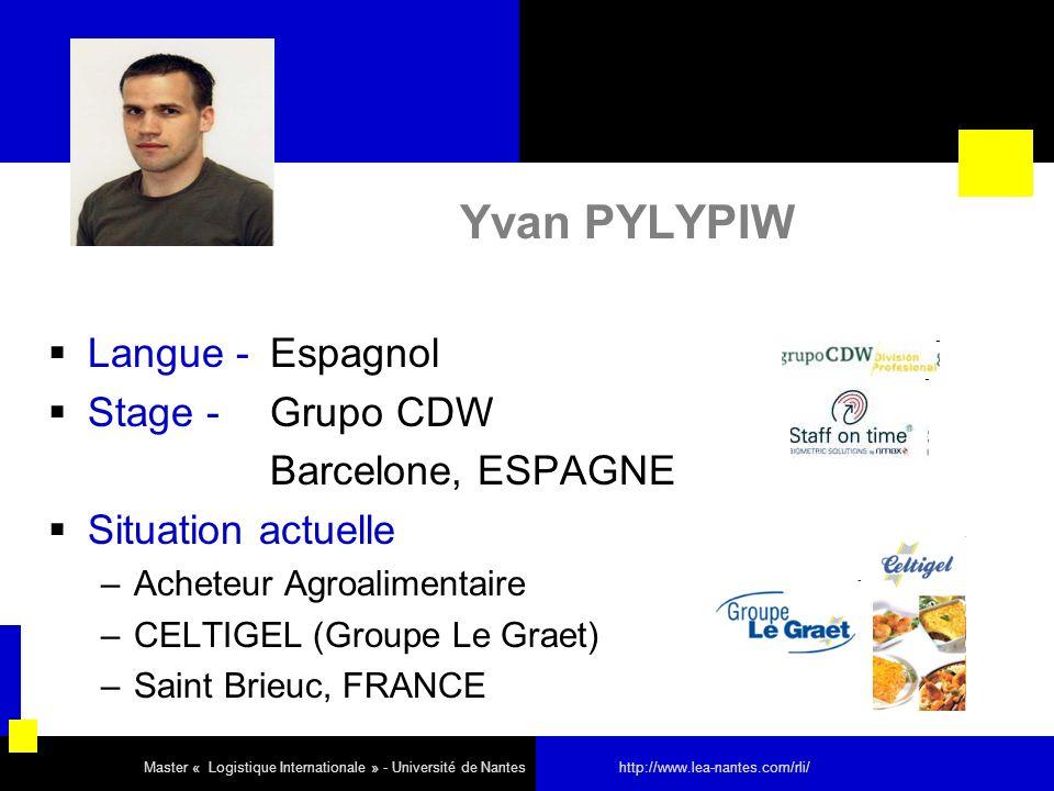 Yvan PYLYPIW Langue - Espagnol Stage - Grupo CDW Barcelone, ESPAGNE