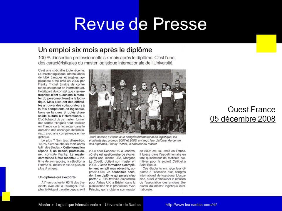 Revue de Presse Ouest France 05 décembre 2008 29