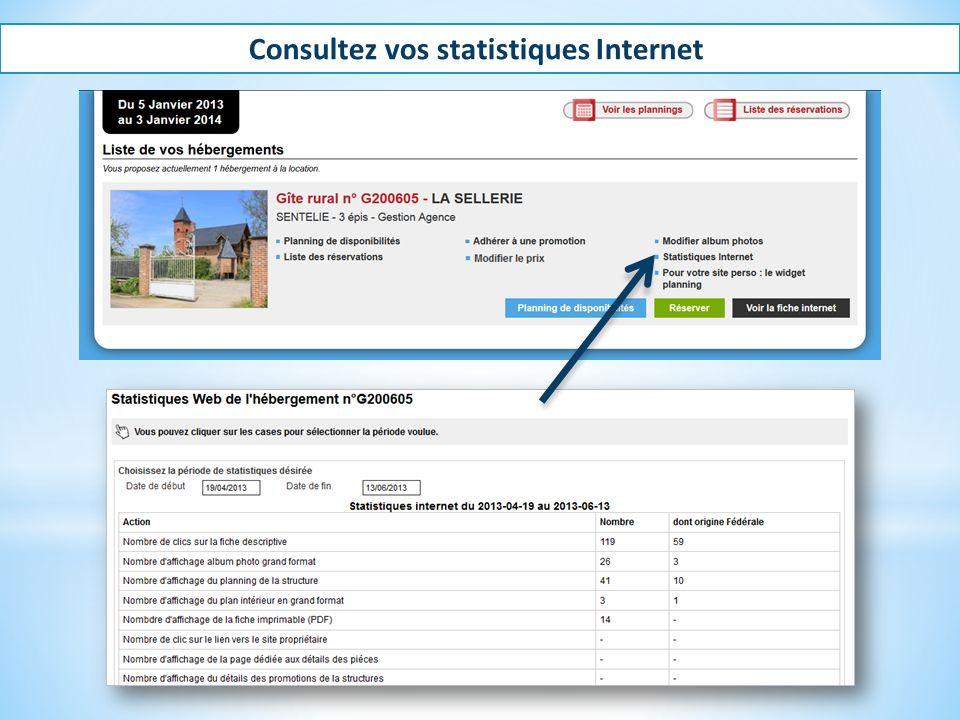 Consultez vos statistiques Internet