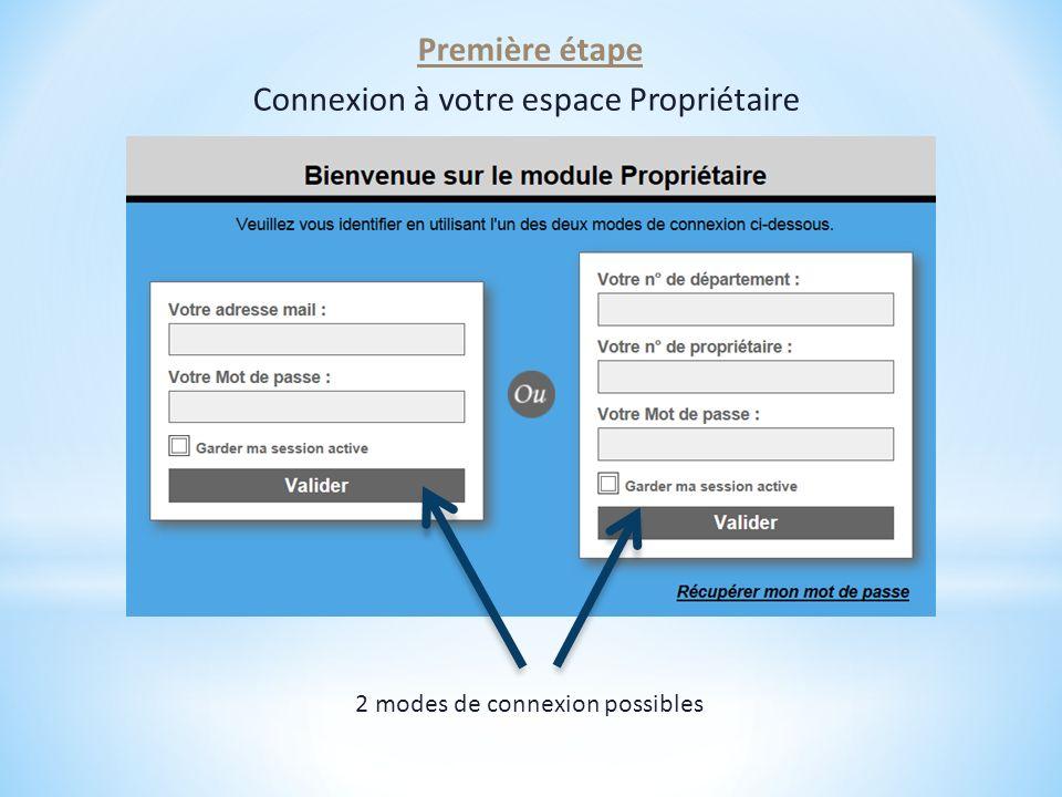 Connexion à votre espace Propriétaire
