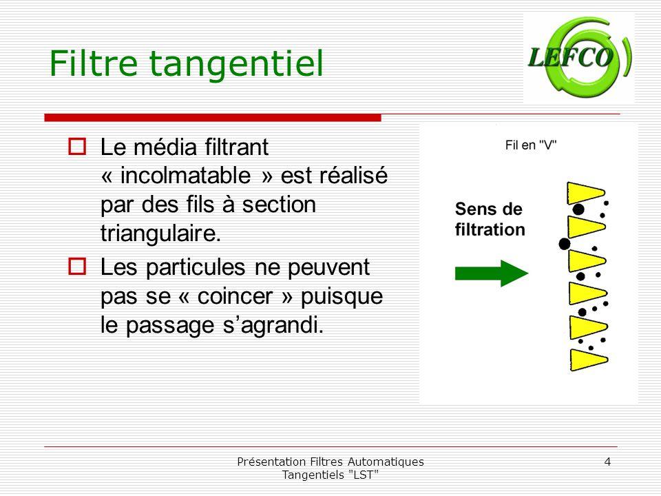 Présentation Filtres Automatiques Tangentiels LST