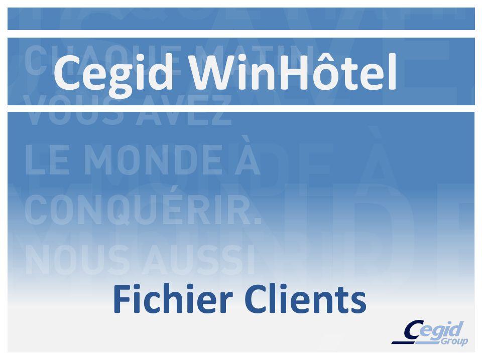 Cegid WinHôtel Fichier Clients