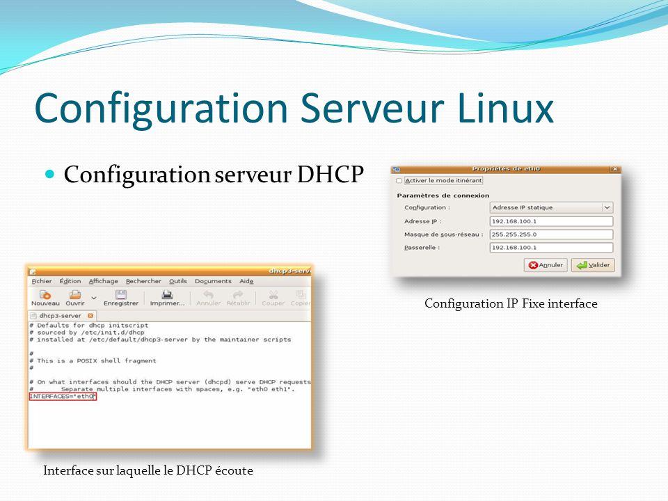 Configuration Serveur Linux
