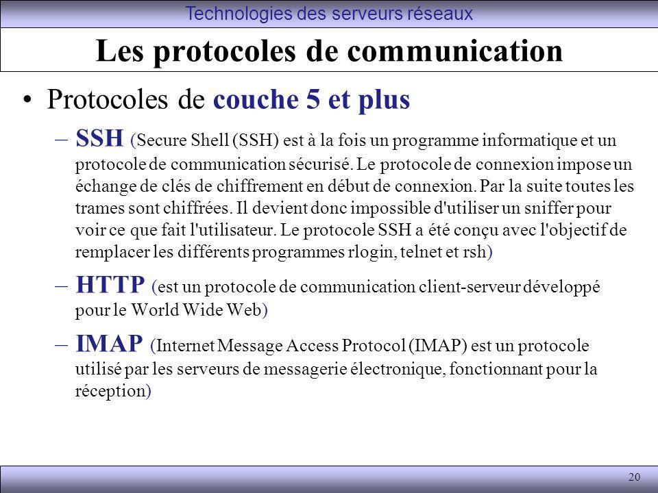 Les protocoles de communication