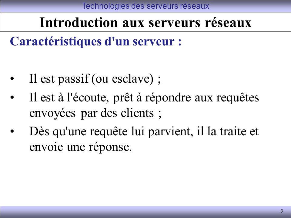 Introduction aux serveurs réseaux