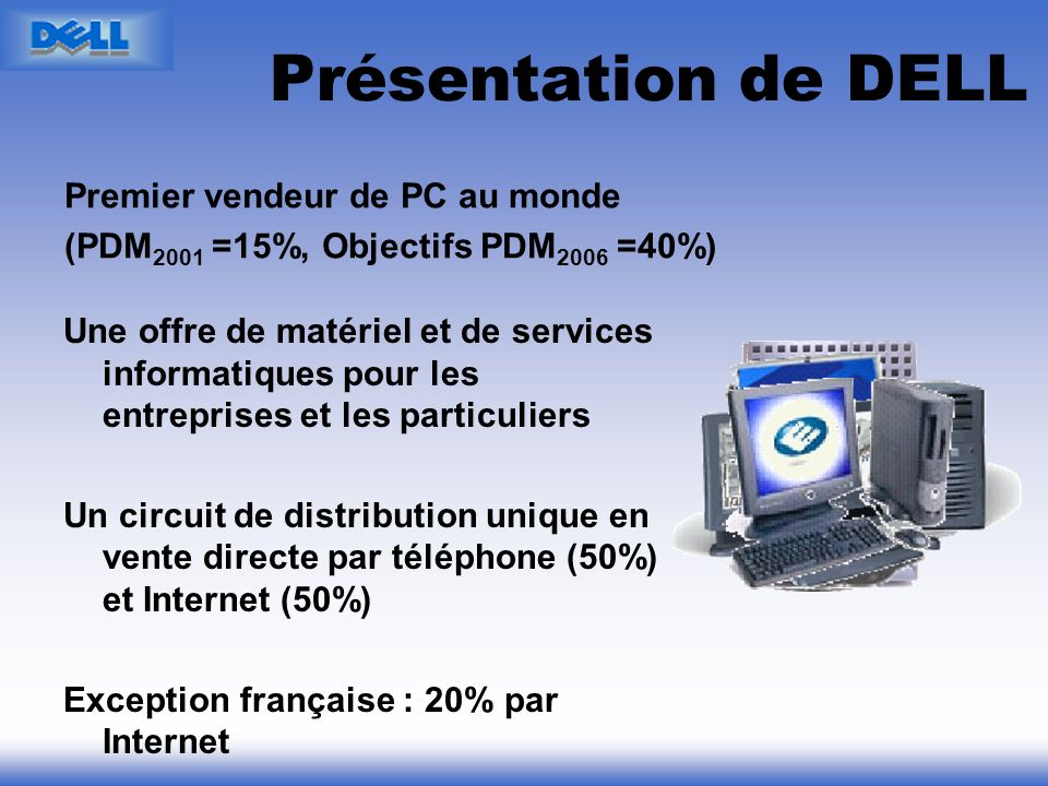 Présentation de DELL Premier vendeur de PC au monde