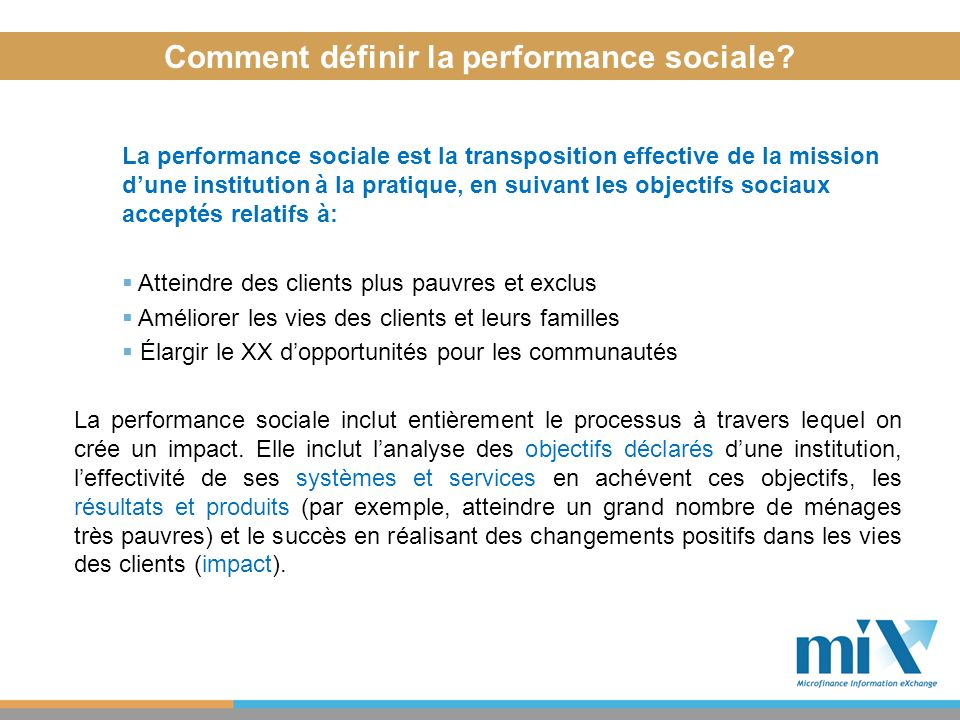 Comment définir la performance sociale