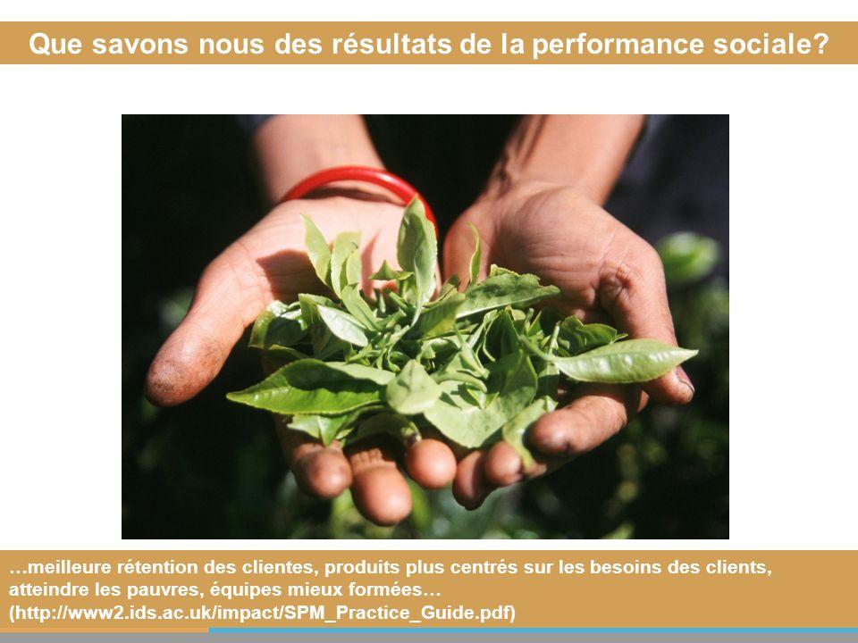 Que savons nous des résultats de la performance sociale