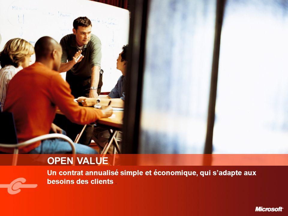OPEN VALUE Un contrat annualisé simple et économique, qui s'adapte aux besoins des clients .