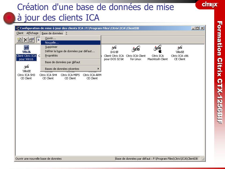 Création d une base de données de mise à jour des clients ICA