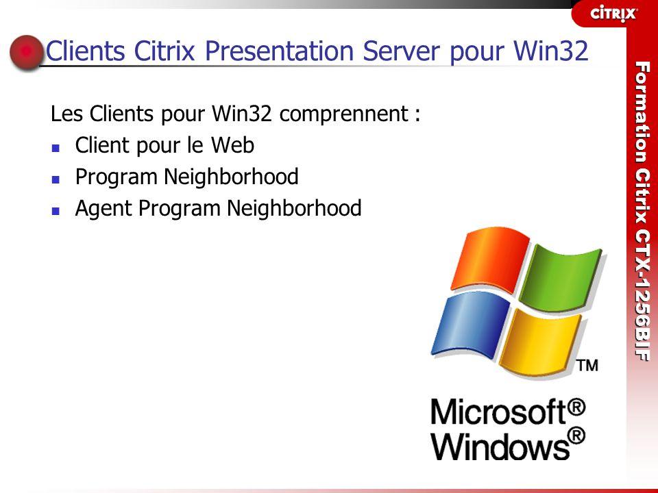 Clients Citrix Presentation Server pour Win32
