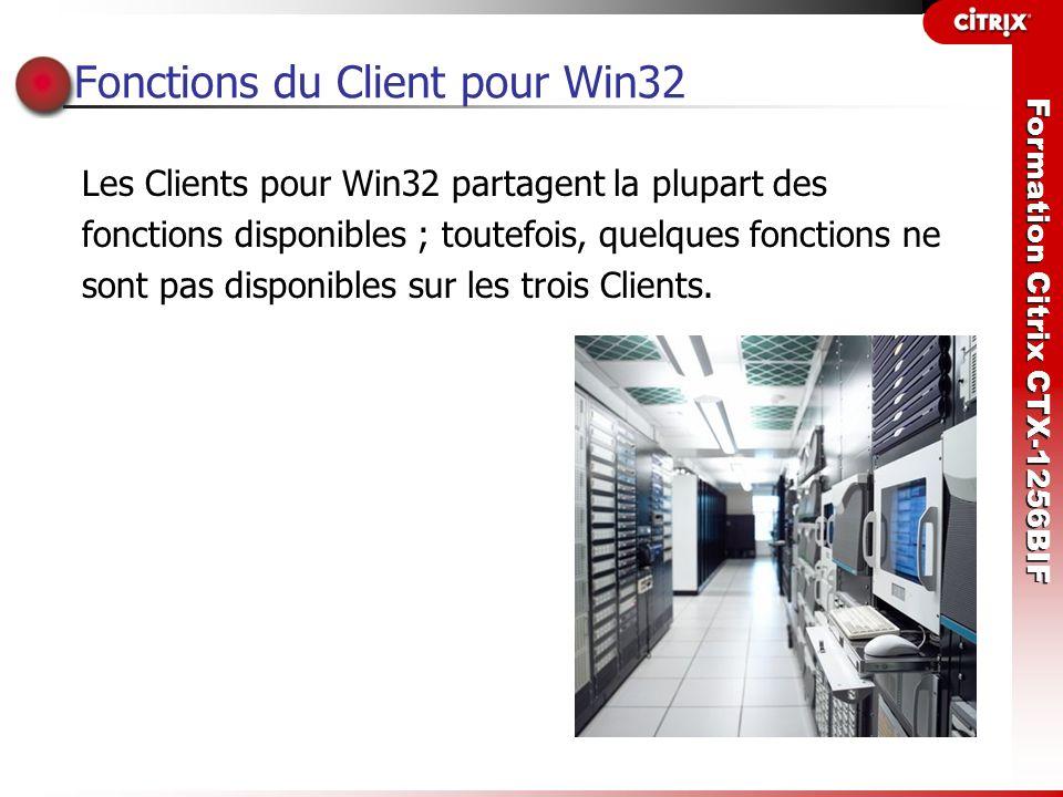Fonctions du Client pour Win32