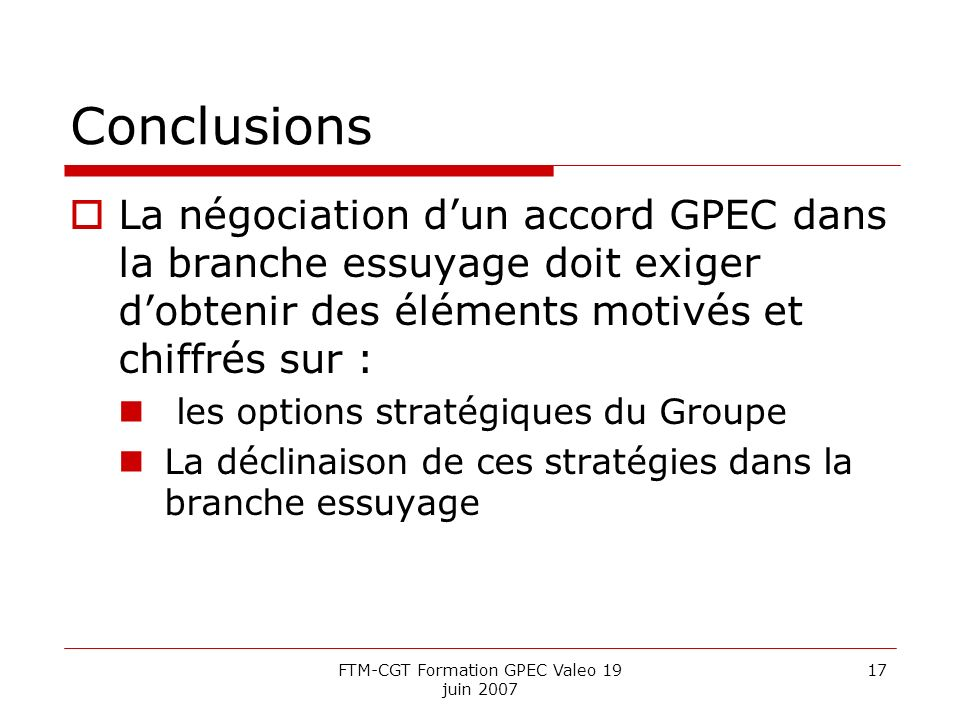 FTM-CGT Formation GPEC Valeo 19 juin 2007