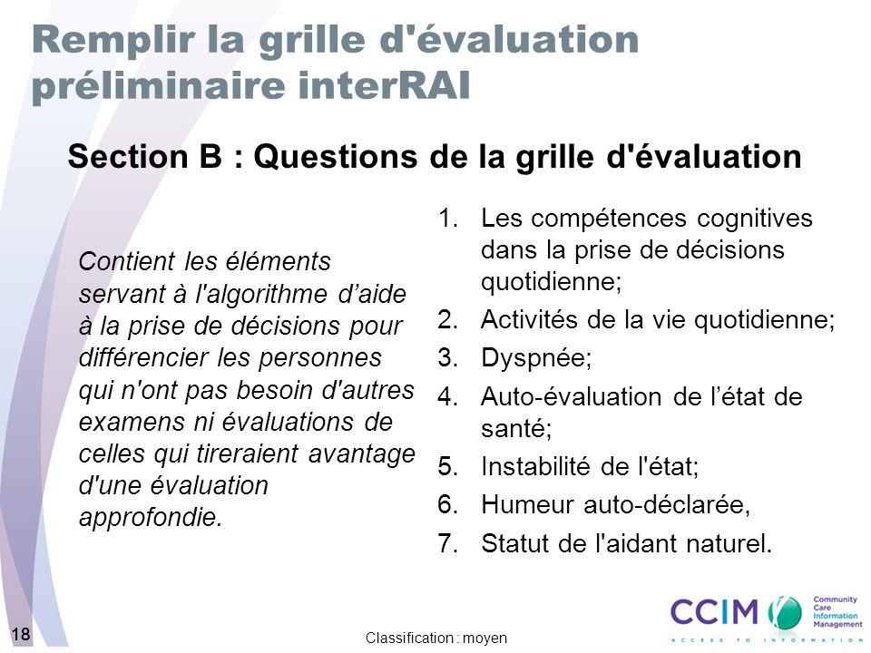 Formation sur la grille d 39 valuation pr liminaire interrai - Grille d evaluation des competences infirmieres ...