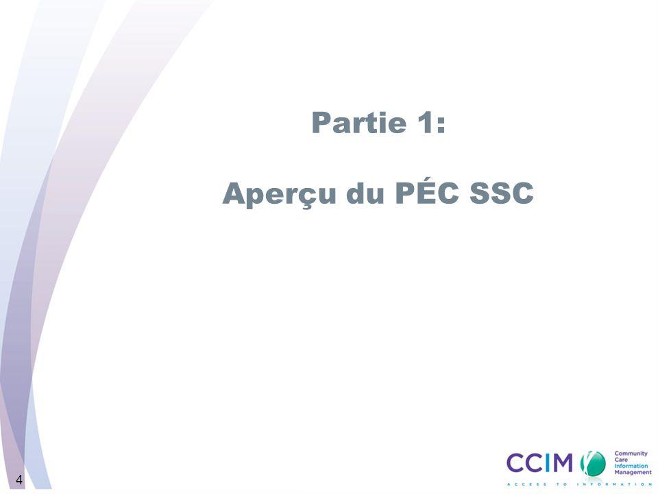 Partie 1: Aperçu du PÉC SSC