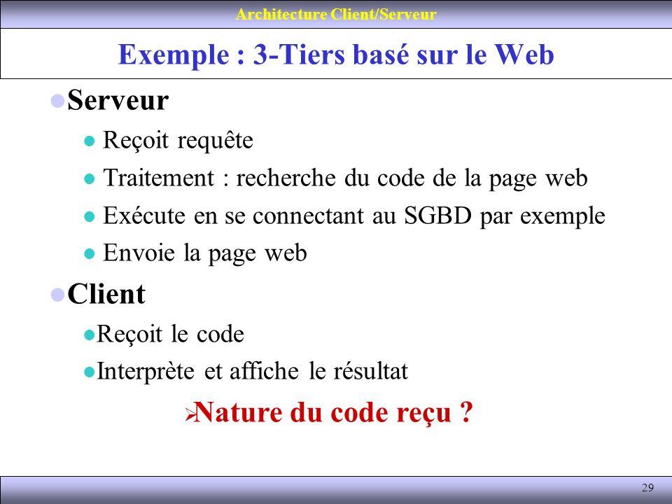 Exemple : 3-Tiers basé sur le Web
