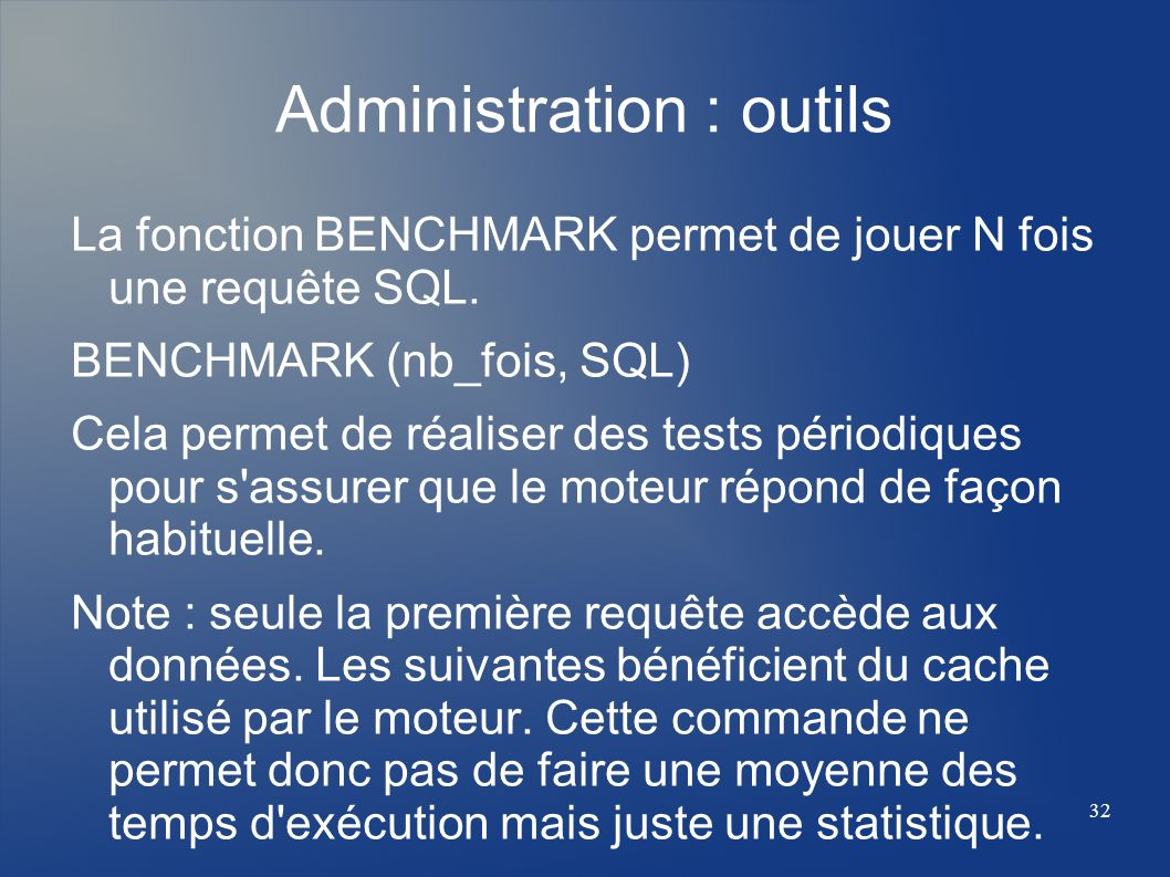 Administration : outils