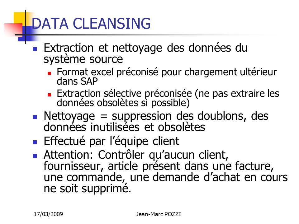 DATA CLEANSING Extraction et nettoyage des données du système source