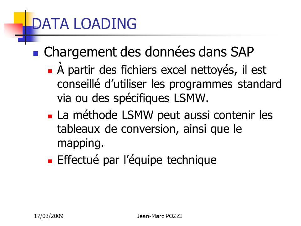 DATA LOADING Chargement des données dans SAP
