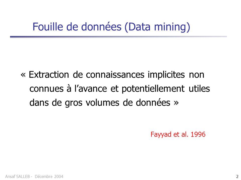 Fouille de données (Data mining)