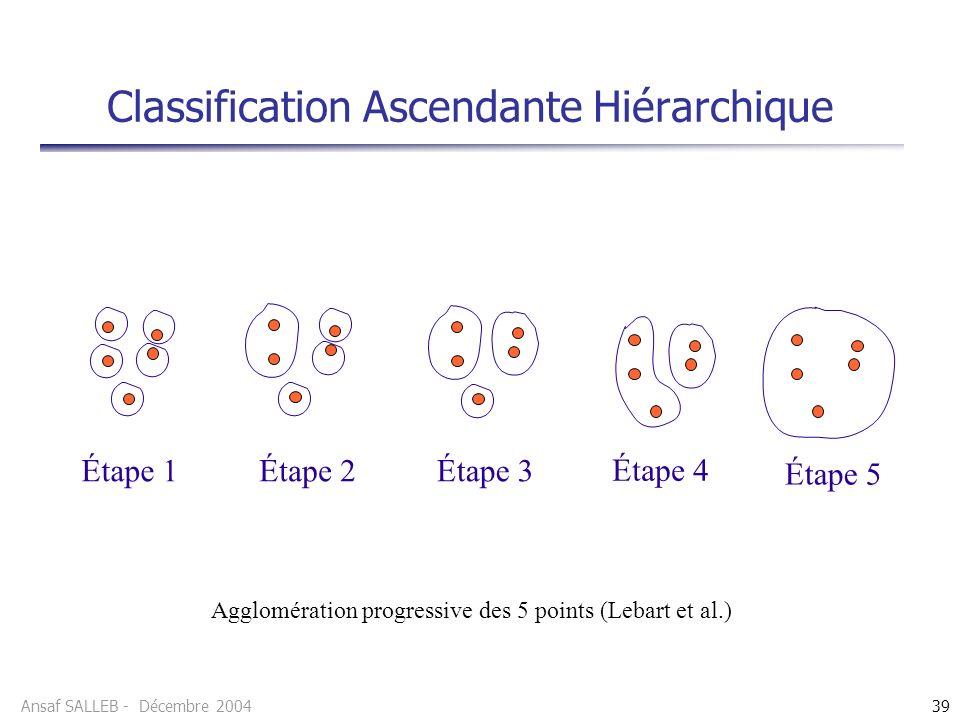 Classification Ascendante Hiérarchique