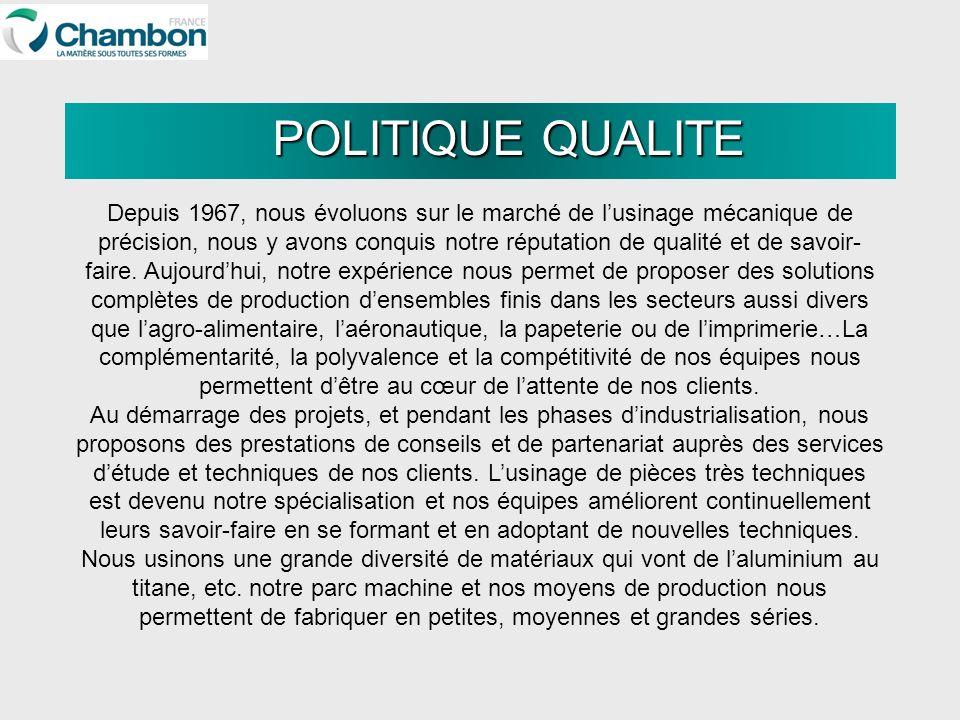 POLITIQUE QUALITE