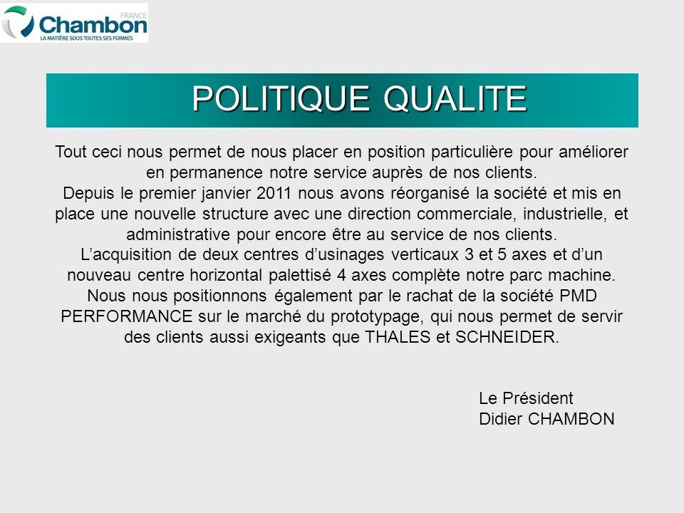 Le Président Didier CHAMBON