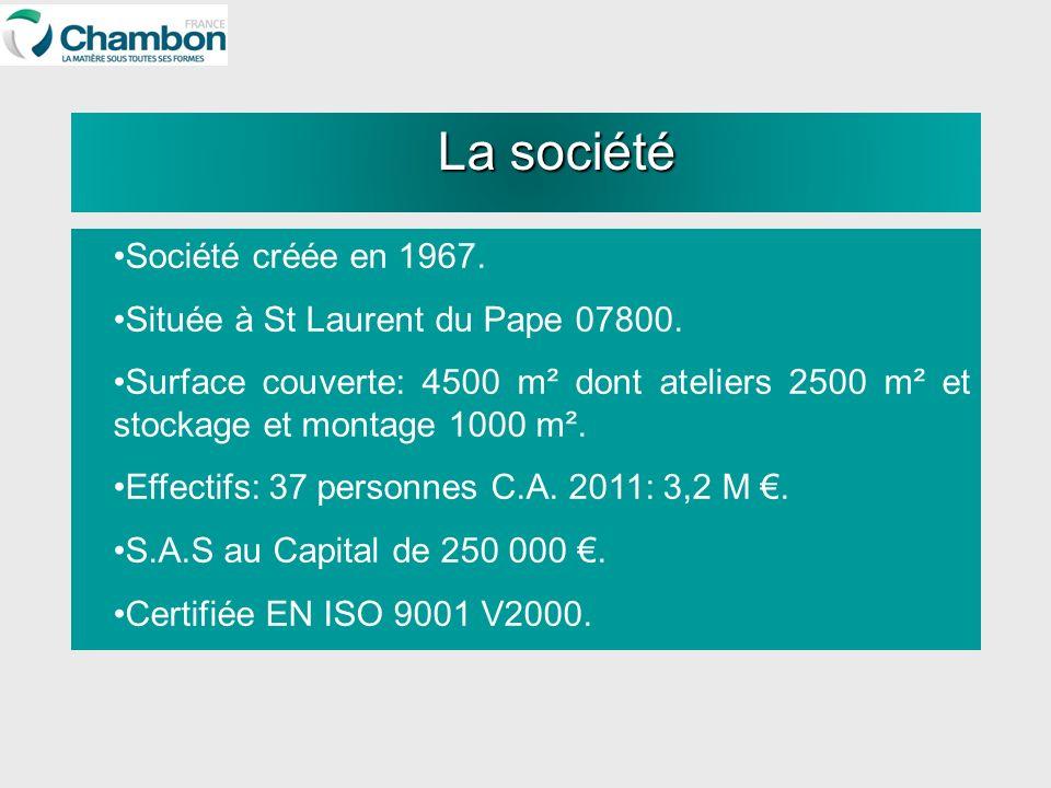 La société Société créée en 1967. Située à St Laurent du Pape 07800.