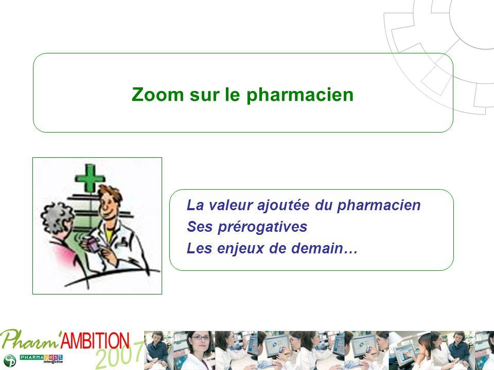 La valeur ajoutée du pharmacien Ses prérogatives Les enjeux de demain…