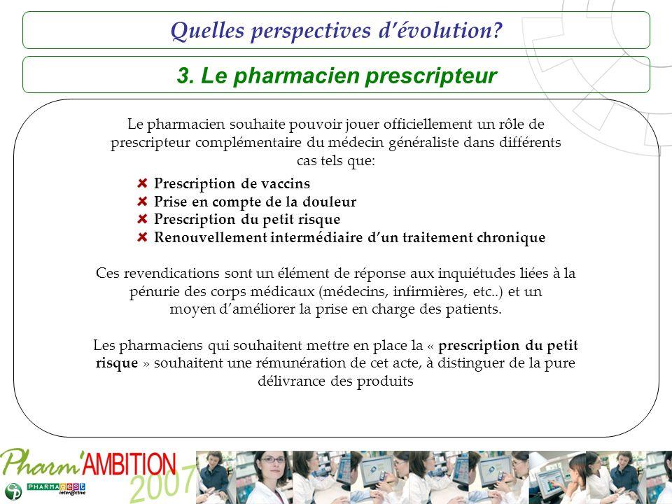 3. Le pharmacien prescripteur