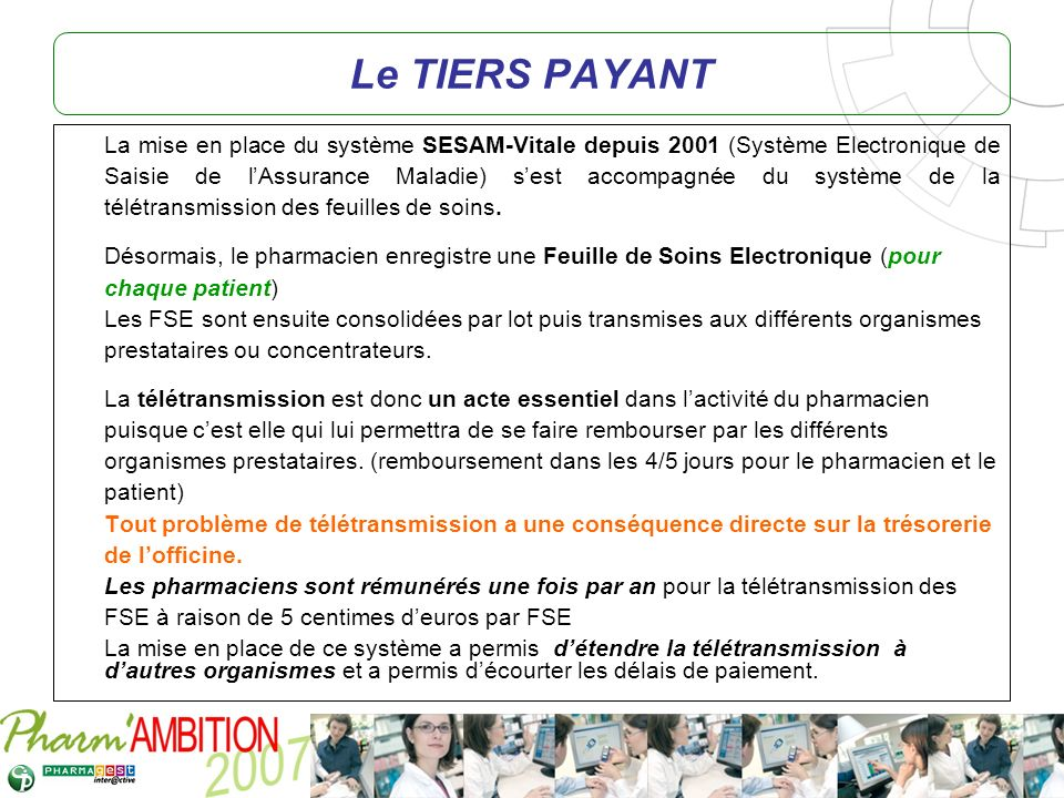Le TIERS PAYANT