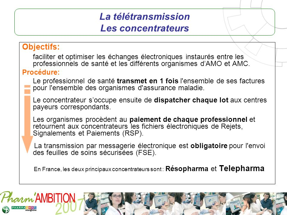 La télétransmission Les concentrateurs