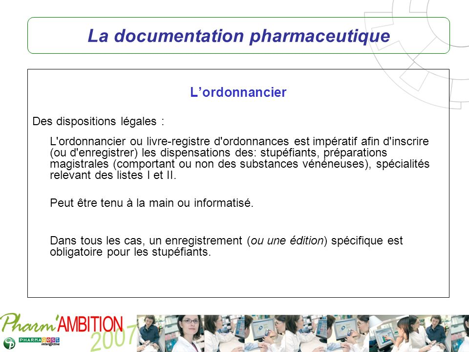 La documentation pharmaceutique