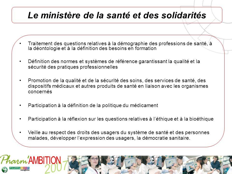 Le ministère de la santé et des solidarités