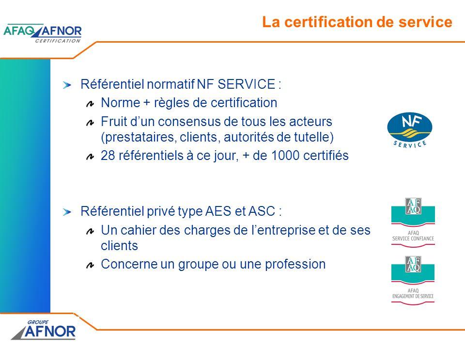 La certification de service