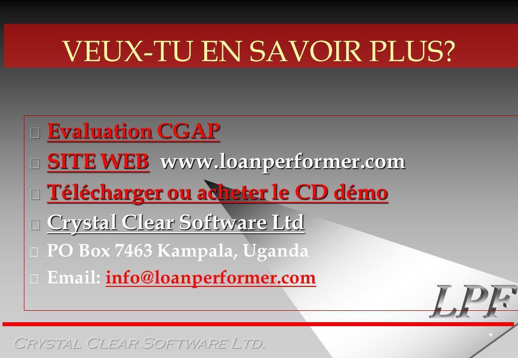 VEUX-TU EN SAVOIR PLUS Evaluation CGAP