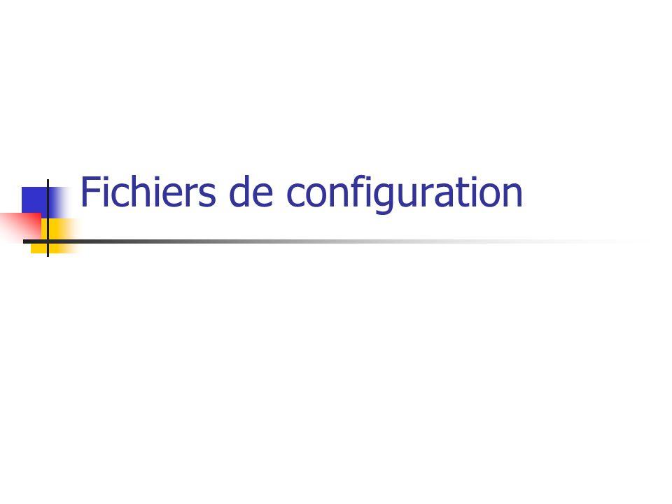 Fichiers de configuration