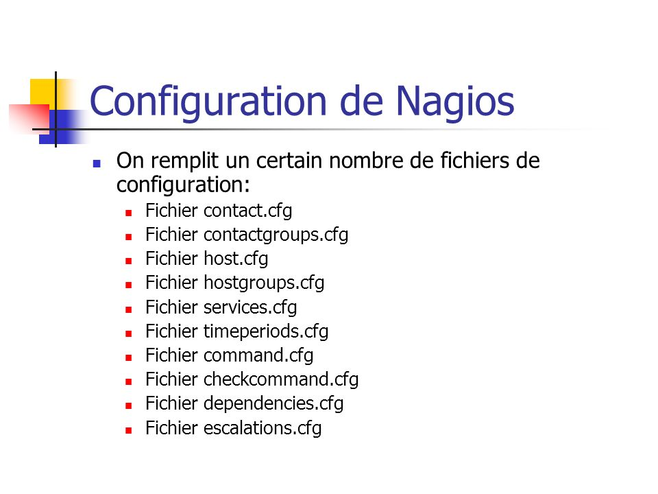 Configuration de Nagios