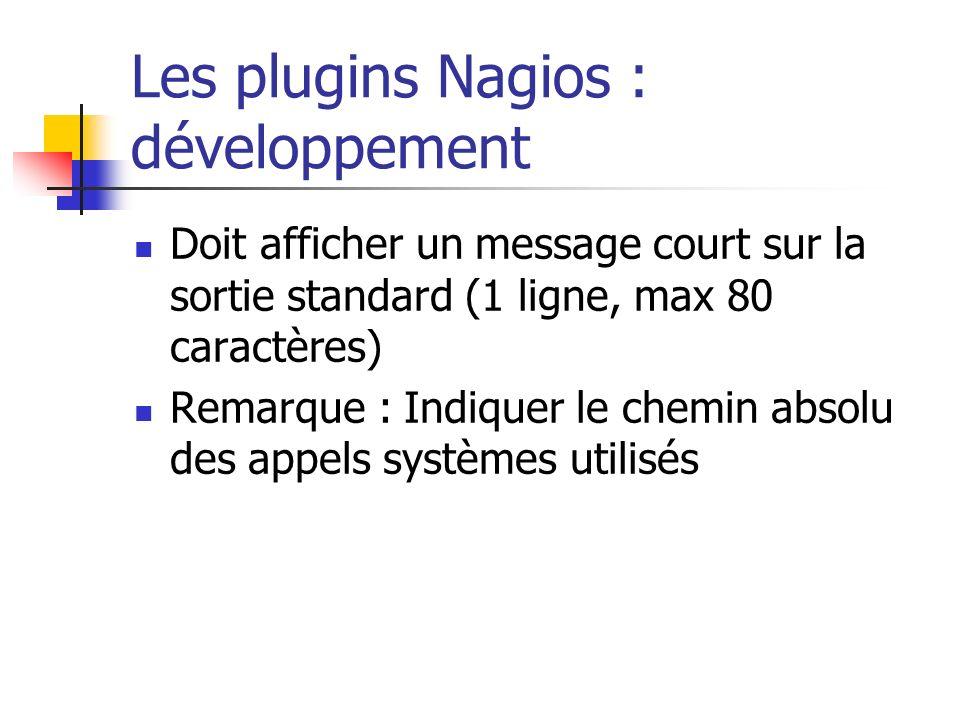 Les plugins Nagios : développement