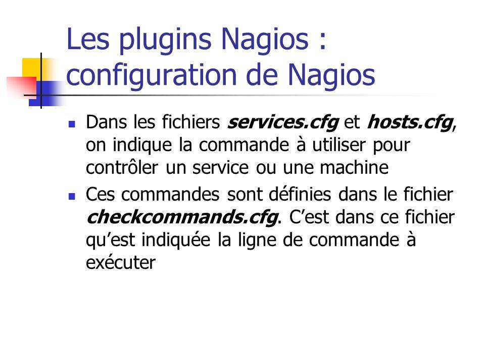 Les plugins Nagios : configuration de Nagios