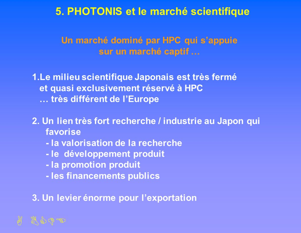 5. PHOTONIS et le marché scientifique
