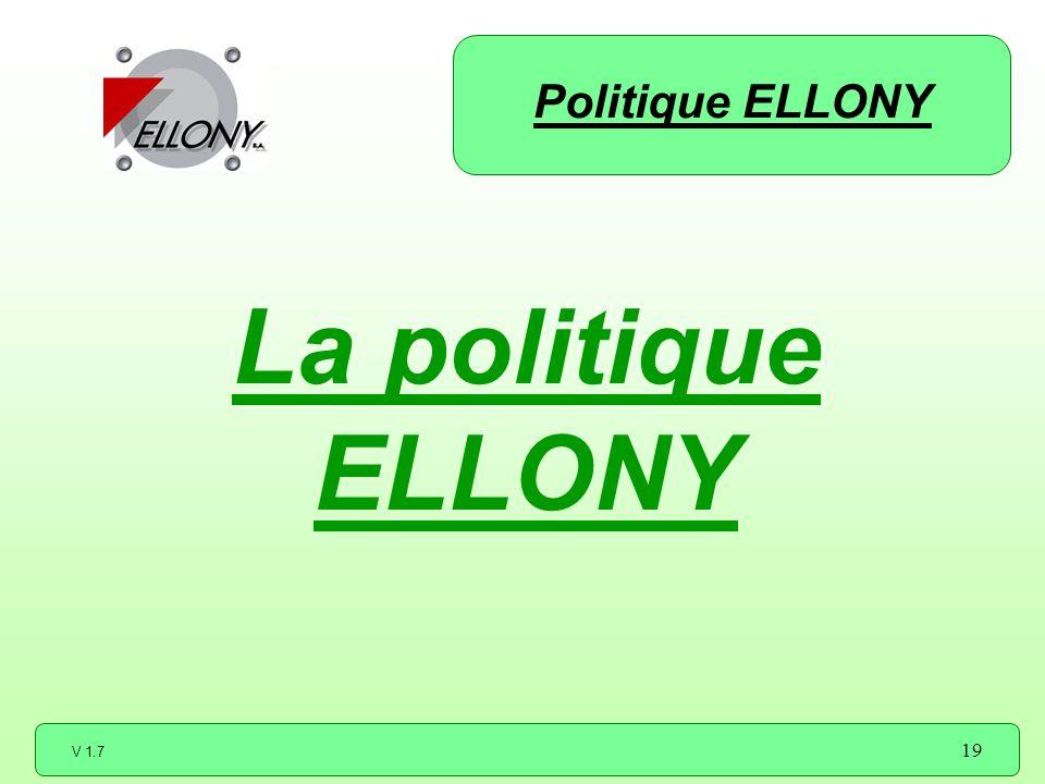 Politique ELLONY La politique ELLONY