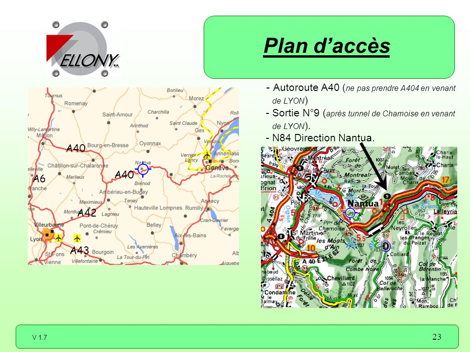 Plan d'accès Autoroute A40 (ne pas prendre A404 en venant