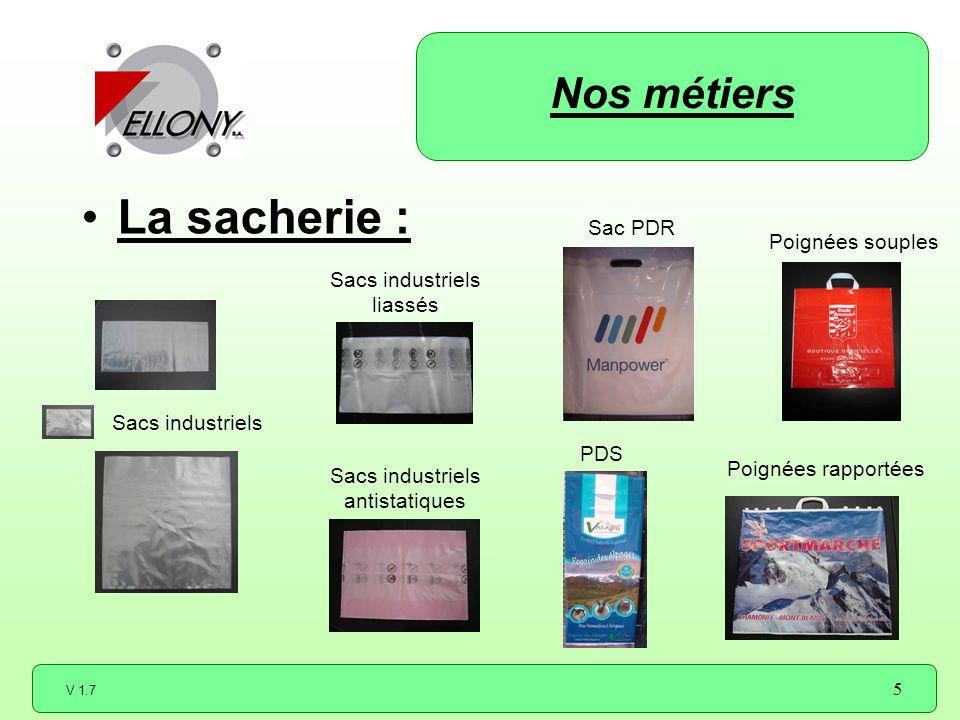 La sacherie : Nos métiers Sac PDR Poignées souples Sacs industriels