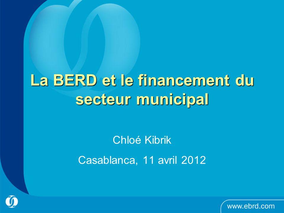 La BERD et le financement du secteur municipal