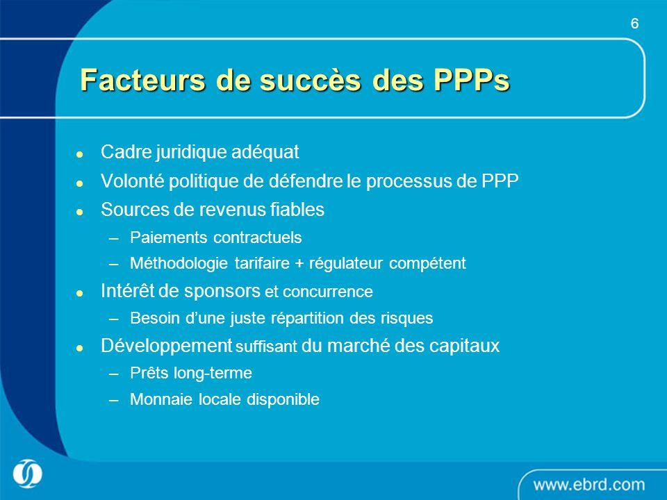 Facteurs de succès des PPPs
