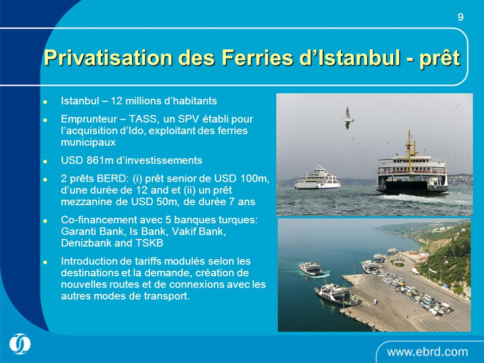 Privatisation des Ferries d'Istanbul - prêt