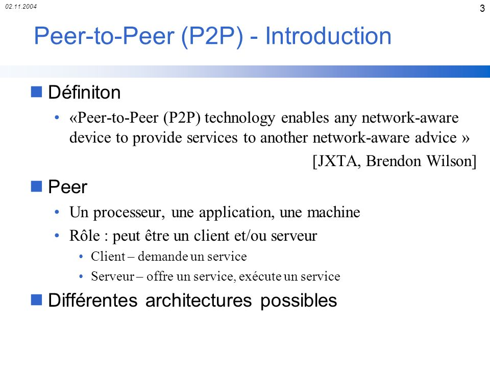 Peer-to-Peer (P2P) - Introduction