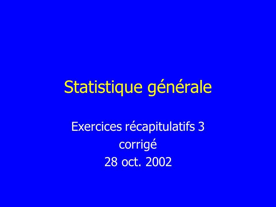 Exercices récapitulatifs 3 corrigé 28 oct. 2002