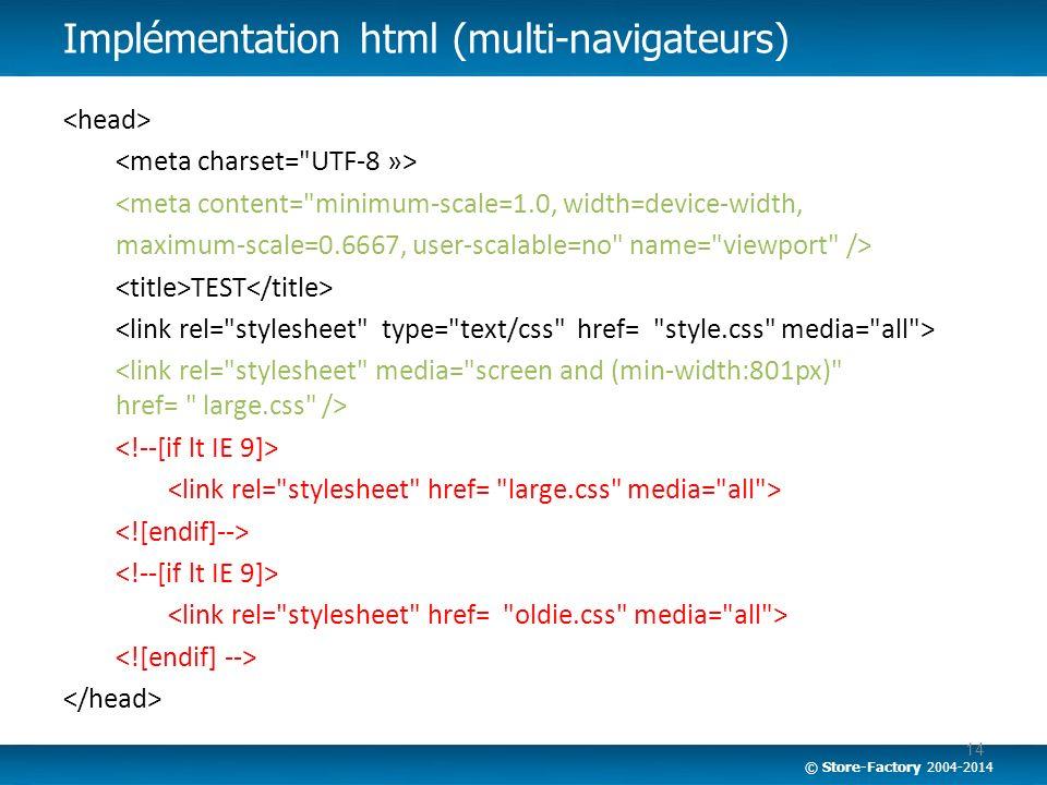 Implémentation html (multi-navigateurs)